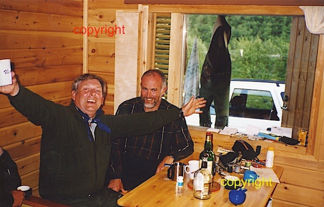 Nigel and me after drinking all the whiskey, Finland trip